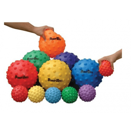 LOT DE 6 BALLONS TACTILES.