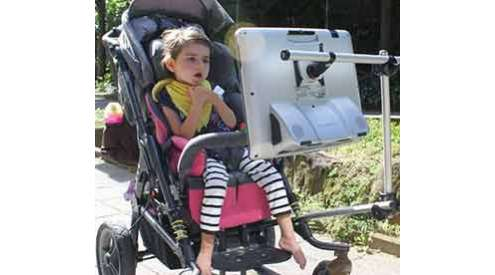 Eye control support for wheelchairs