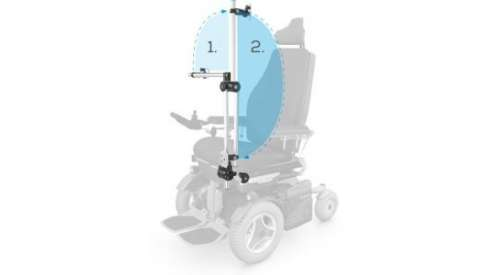 Multimedia material support on wheelchair